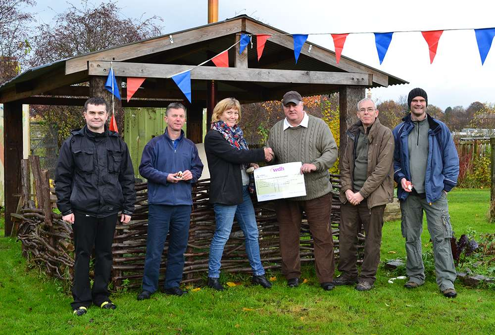 Community group receiving funding