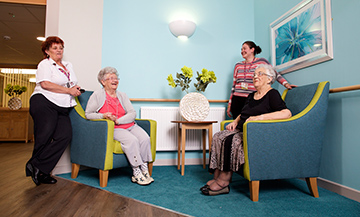 Independent living and care homes.