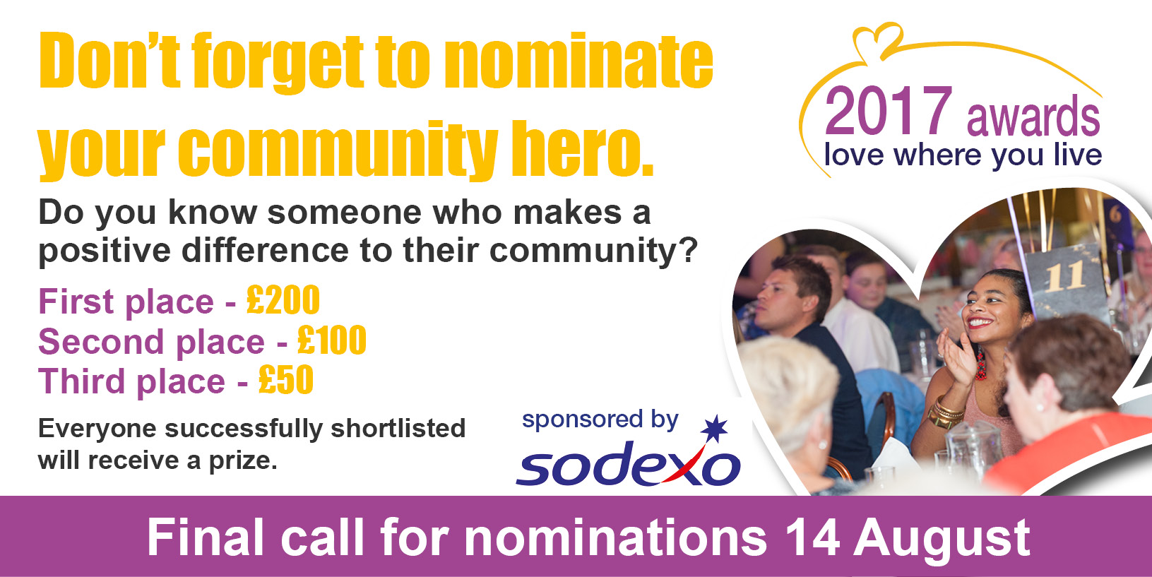 Love Where you Live Awards - nominations now open