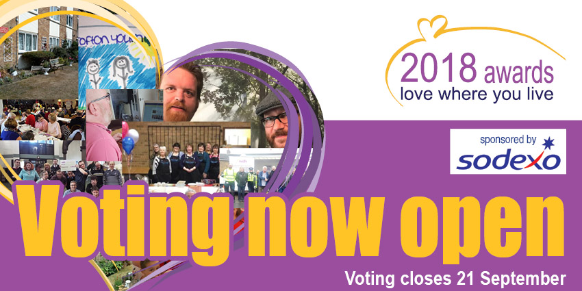 Love Where you Live Awards - voting now open. Closes 21st September