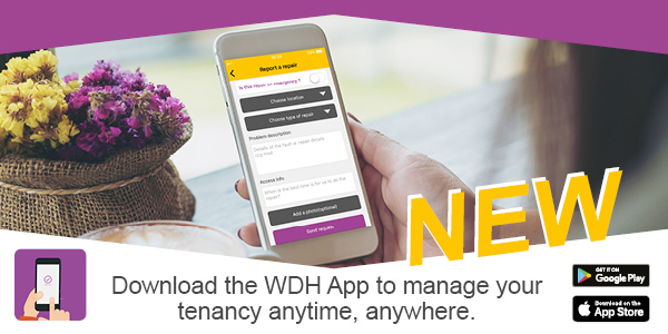 Download the WDH App to manage your tenancy anytime, anywhere.