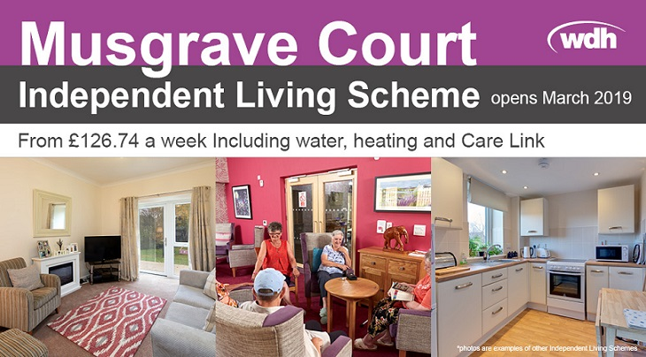 Independent Living Scheme at Musgrave Court, opening March 2019.