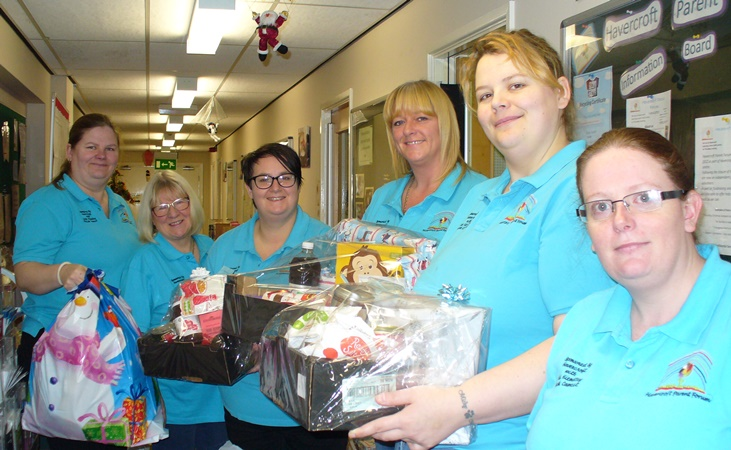 Havercroft Parent's Forum helps bring Christmas cheer to those in need thanks to WDH.