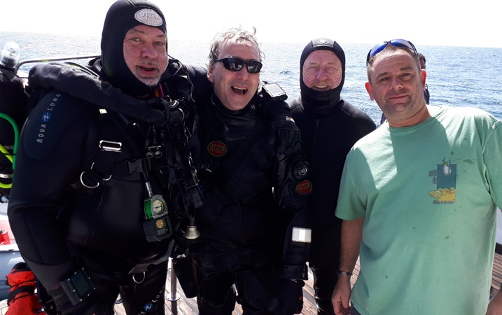 Graham breaks the record for the deepest blind salt water scuba dive!