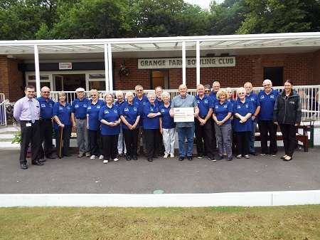 Grange Park Bowling Club receives cash boost for new equipment