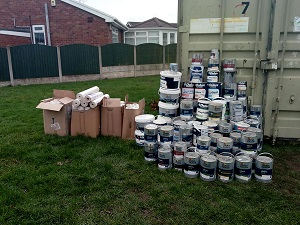 Over 500 litres of paint recycled