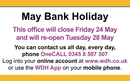 Service access point and HUB bank holiday closures