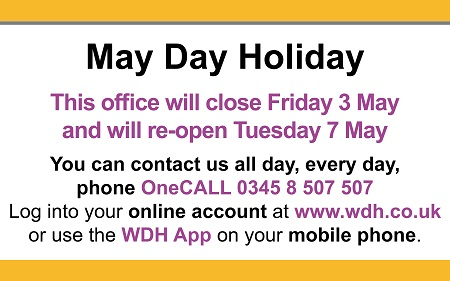 Serviceaccess point and HUB bank holiday closures