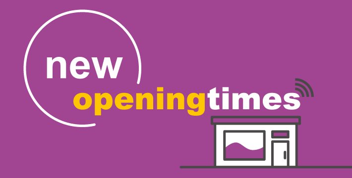 We are making changes to our Service Access Point (SAP) and Hub opening hours from December
