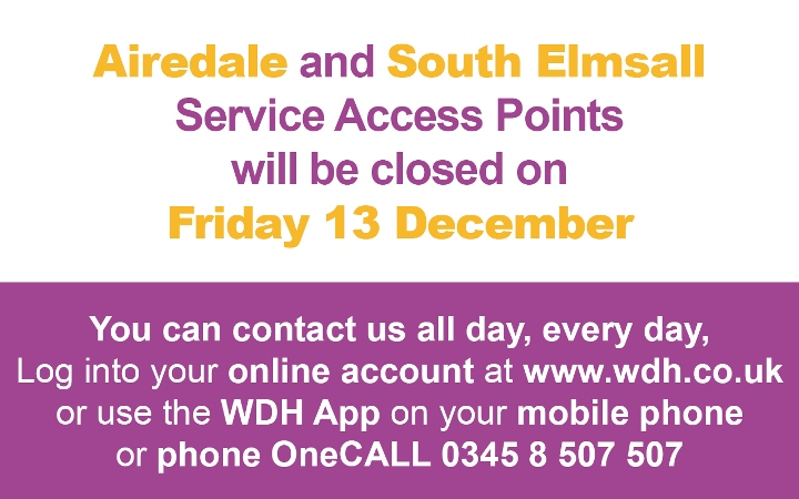 Service access point (SAP) closure - Friday 13 December