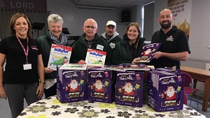 Christmas Calendars donated to local foodbanks